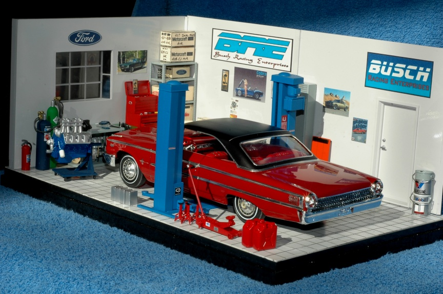 1 24 diorama garage kits pictures to pin on pinterest for 1 1 2 kit di garage per auto
